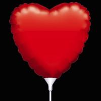 Folie ballon : Rood hartje