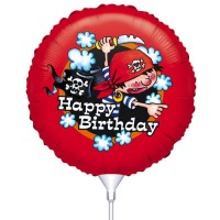 Folie ballon : Happy Birthday - Piraten