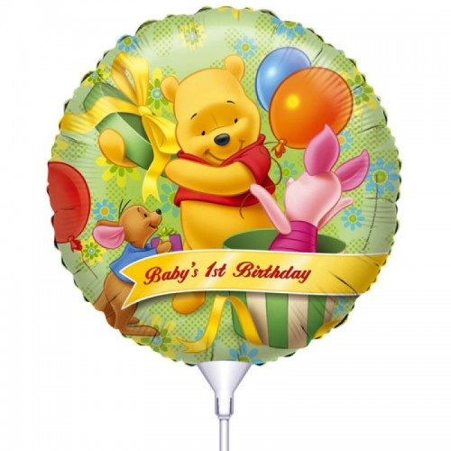Folie ballon : Happy 1th Birthday - Winnie de Pooh