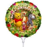 Folie ballon : Happy Birthday - Winnie de Pooh