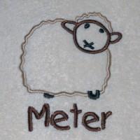 Peter - Meter badhanddoek : Schaap