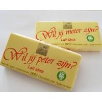 Côte D'Or chocoladereep: Wil jij meter zijn? of Wil jij peter zijn?