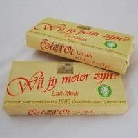 Côte D'Or chocoladereep met gepersonaliseerde wikkel : Wil je meter zijn? of Wil je peter zijn?