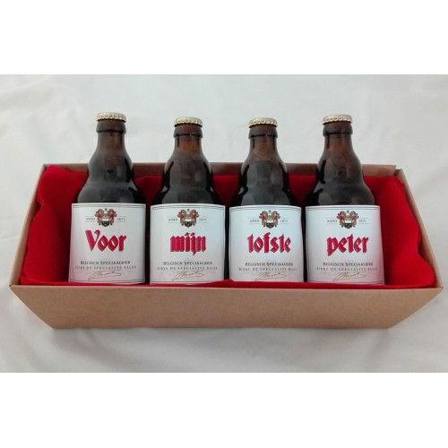 Duvel / La Chouffe bierflesjes 'Voor Peter'