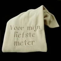 Fleece deken 'Voor mijn liefste meter'