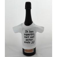 Flessen T-shirt: Superblij met meter / peter