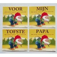 Duvel / La Chouffe bierflesjes 'Voor Papa'