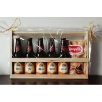 Leffe bierpakket : Proficiat met jullie huwelijk (5 flesjes) - Houten kratje