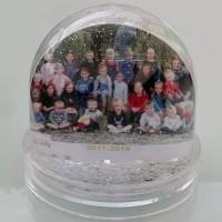 Schudbol met sneeuw, glitter ofwel sterretjes (eigen ontwerp)