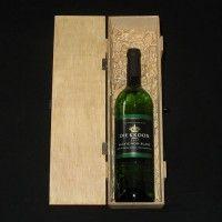 'Breekbare' houten kist (1 fles)