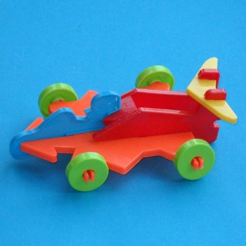3D raceauto puzzel