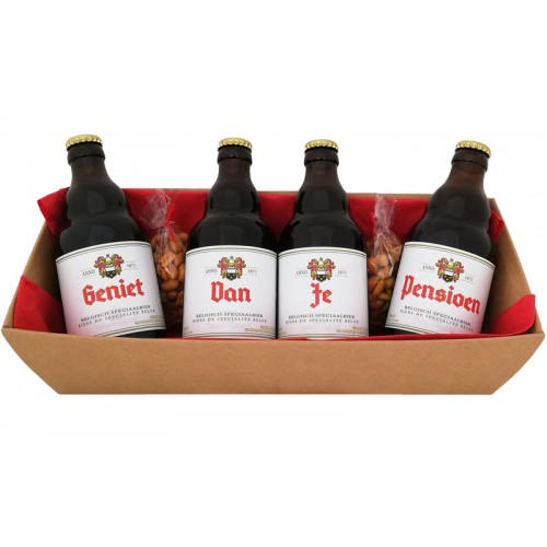 Duvel flesjes met bier stickers - Geniet van je Pensioen