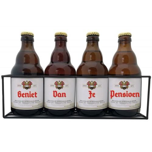 Duvel bierpakket : Geniet van je Pensioen (4 flesjes) - Rekje
