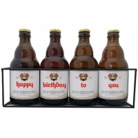 Duvel flesjes met bier stickers  - Happy Birthday to You (in Rekje)