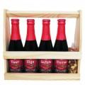 Kriek bierpakket : Voor mijn liefste mama (4 flesjes) - Houten kratje