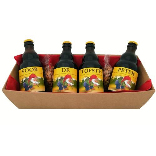 La Chouffe bierpakket : Voor de Tofste Peter (4 flesjes)