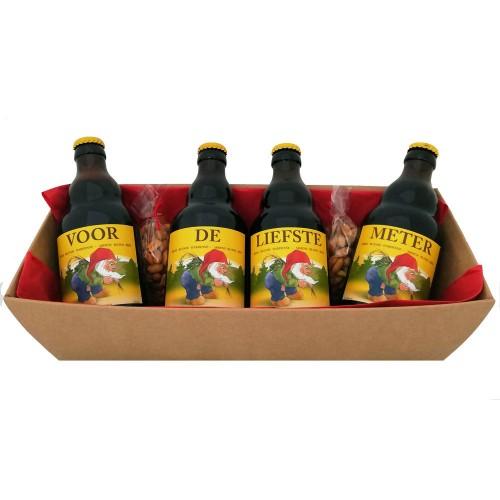 La Chouffe flesjes met bier stickers - Voor de liefste Meter