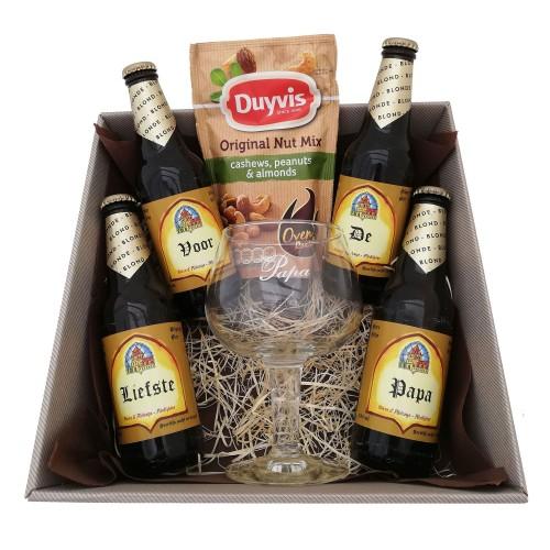 Leffe bierpakket met glas voor Papa! (4 flesjes)