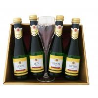 Kerstpakket Mousserende Wijn met glas:  Voor mijn liefste meter