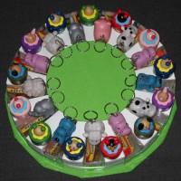 Dieren verjaardagstaart