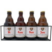 Duvel bierpakket : Ik Hou Van Jou (4 flesjes) - Rekje