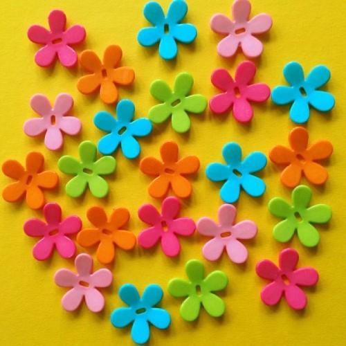 Plastic bloemen